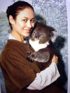 """Snuggling with a koala"""