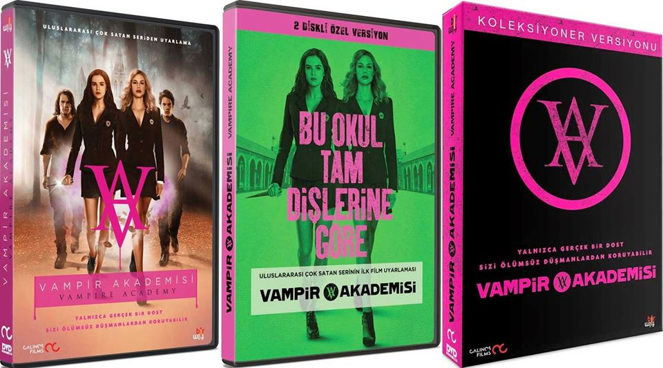 Vampire Academy Dvd Cover Turkish and Norwegian DVD